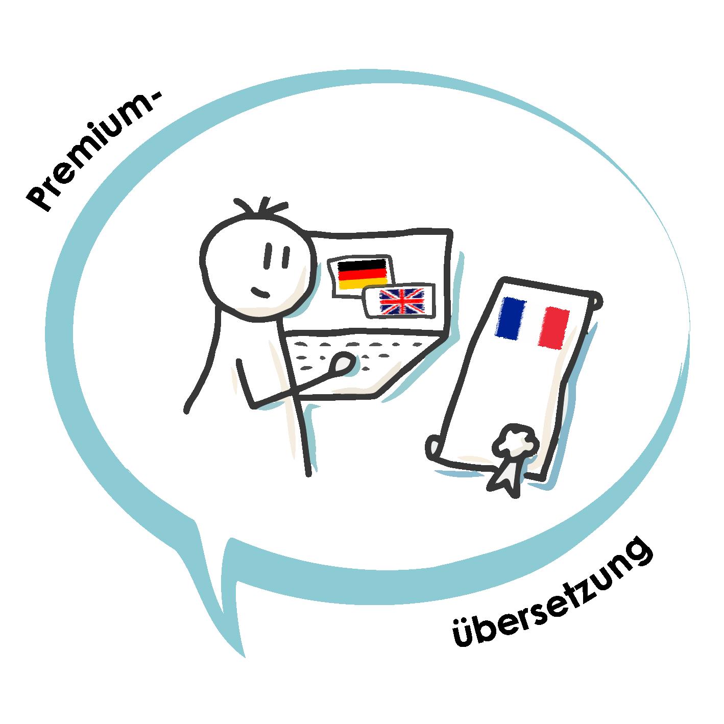 Sketch Icon Premium Uebersetzung DE